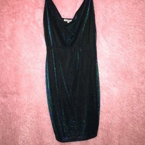 Dresses & Skirts - Shimmery blue/green bodycon dress (worn once)
